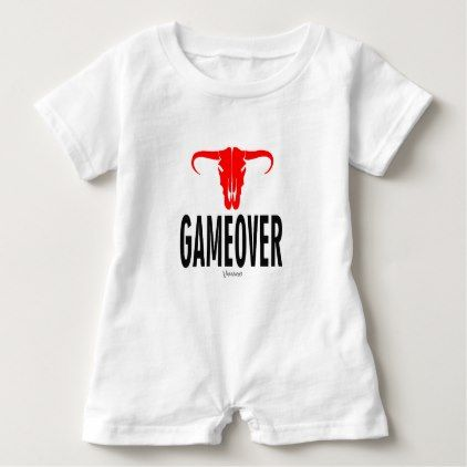 Game Over & Bull by VIMAGO Baby Romper - Xmas ChristmasEve Christmas Eve Christmas merry xmas family kids gifts holidays Santa