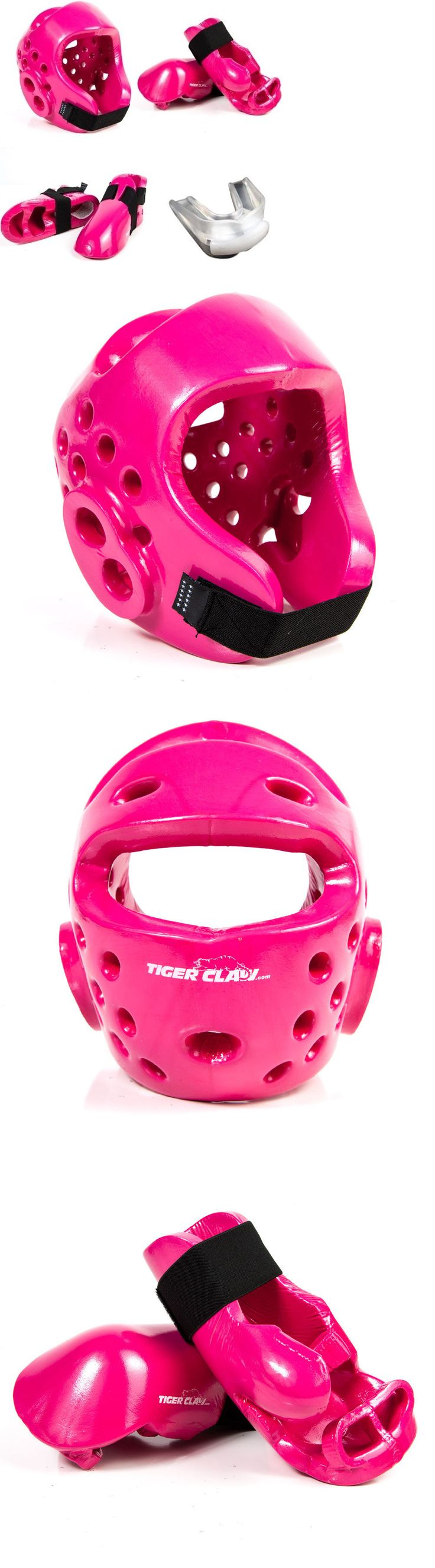 Other Combat Sport Protection 179783: Karate Tae Kwon Do Sparring Gear Set With Headgear Hand Foot Pads - Pink -> BUY IT NOW ONLY: $59.95 on eBay!