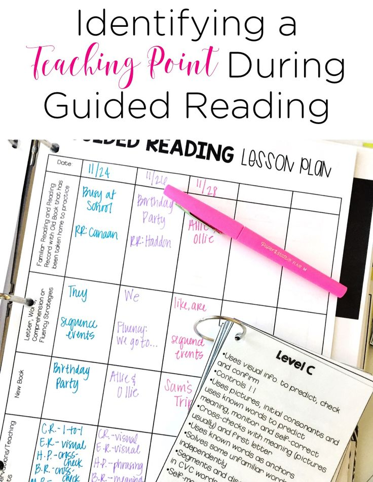 Identifying a teaching point during guided reading may be the most important thing you do to help your readers during guided reading time. In this blog post, this teacher shares the basics of identifying a teaching point.
