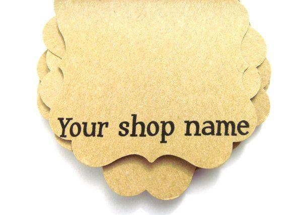 Personalized Earrings Cards Custom Tags Kraft by UntitledGems, $10.00