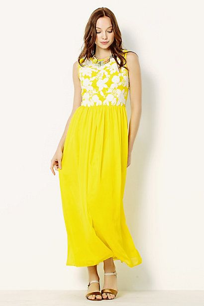 Jonquil Maxi Dress #anthropologie