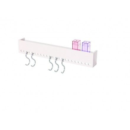 decovry.com - Nomess | So-Hooked Wall Rack 60 | Rubber White