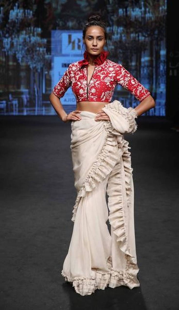 Lakme Fashion Week Summer, Resort 2017 via @sunjayjk A model walks the ramp for #Jayanti_Reddy