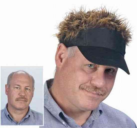 Hairy cap for your hairless scalp...brilliant