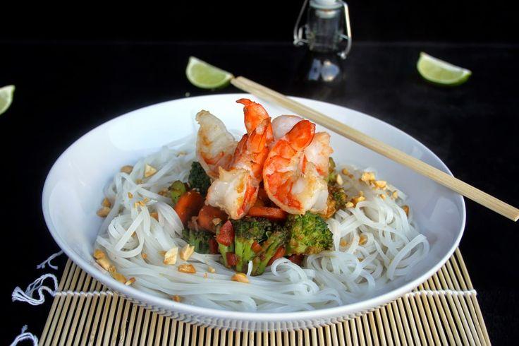 Amapola, el mundo en un plato: Tallarines de arroz tailandeses, thai noodels