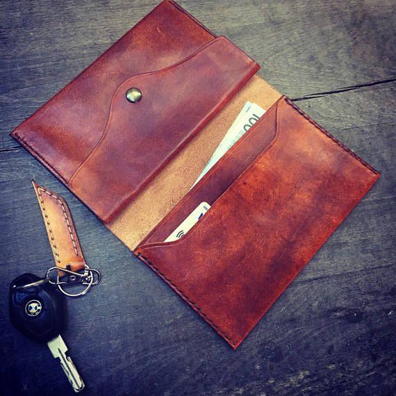 Personalized leather wallet organizer/ Travel wallet/ wallet for men/ Passport holder/ Document organizer/ Handmade leather case/ groom gift