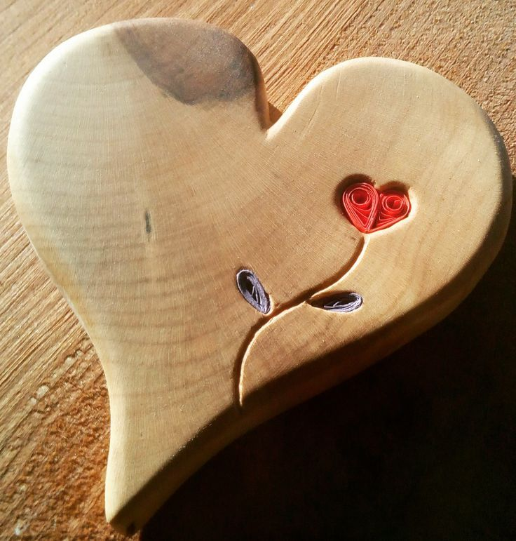 Coeur en bois und Quilling #woodendiy