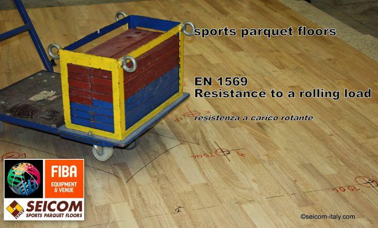 sports parquet floors Seicom : sports parquet floor  rolling load