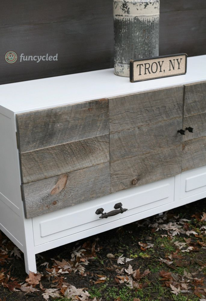 Rustic Modern Entertainment Center For Sale – Tuesday's Treasures – FunCycled