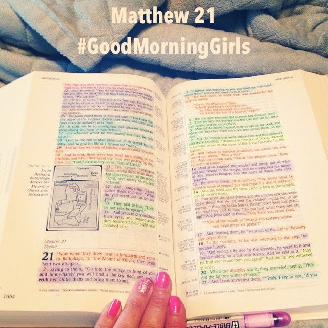 """""""Hosanna in the Highest!""""Matthew 21:9🌴 As this Holy Week🙏 begins may we remember His amazing sacrifice💕 and lift the name of the King of Kings higher🙌 He is worthy! // The #GoodMorningGirls are in Matthew 21 today. // #womenlivingwell 👭 #HolyWeek 🌺 #scripture #Verse #Bible 📖 #BibleStudy #BibleJournaling 🎨"""