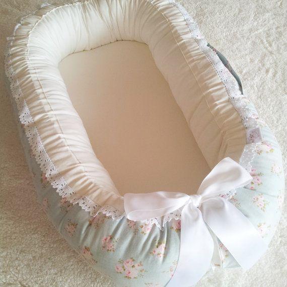 Babynest  baby nest / Tilda Mille Teal or Tilda by BelisaBrand