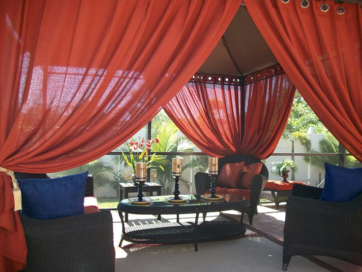 Details About Patio Pizazz Indoor Outdoor Gazebo Drapes, Curtains. Price  Includes (2) Panels