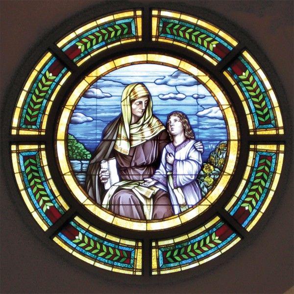 St. Anne and Mary window at St. Anne Catholic Church - Sherman, Texas - Ellen McCarry Hopps