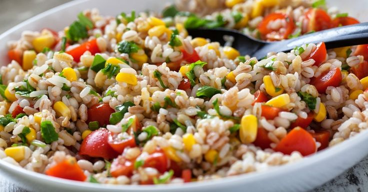 Fresh Orzo Salad With Barley And Rice...I might use quinoa in place of the pasta:-)