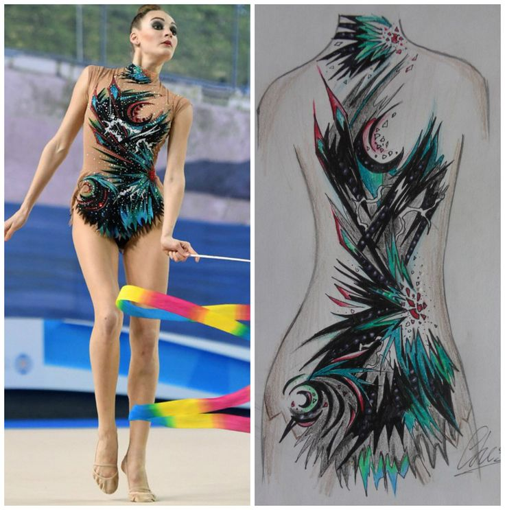 Rhythmic gymnastics leotard by Maria Timoshkina