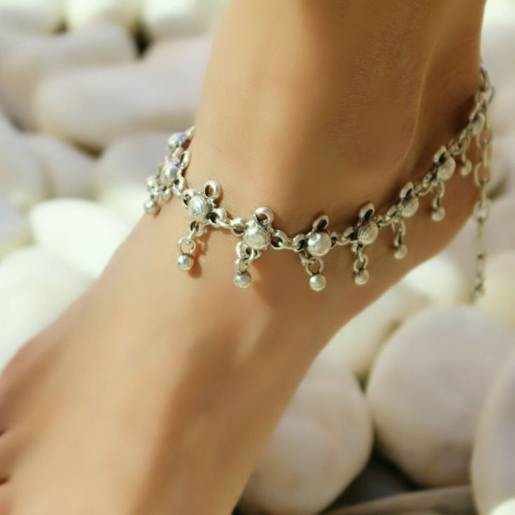 Antique Silver Ankle Anklet Bracelet Boho Beach Barefoot Sandals Foot Chain  #Takimania