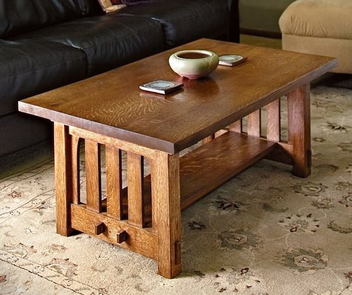 How to Build a Mission Style Coffee Table Project - Free Woodworking Plan