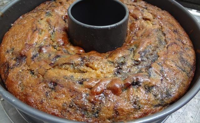 gâteau aux myrtilles et lait ribot
