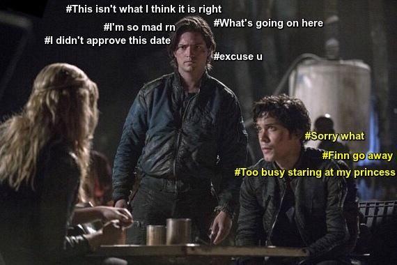 Hahaha :D Bellamy, Clarke and Finn