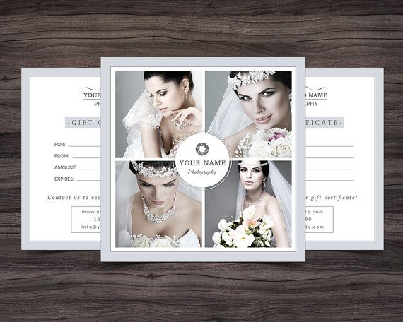 Photography Gift Certificate Template For By NMDesignStudioShop