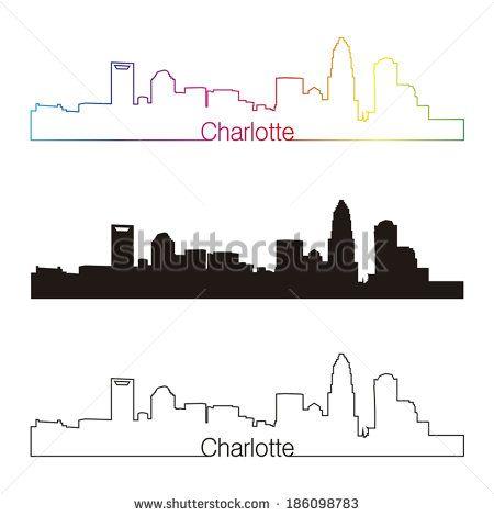 Image result for charlotte skyline outline 2017