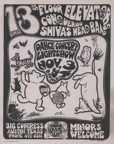 13th floor elevators poster by iburiedpaul via flickr for 13th floor elevators electric jug