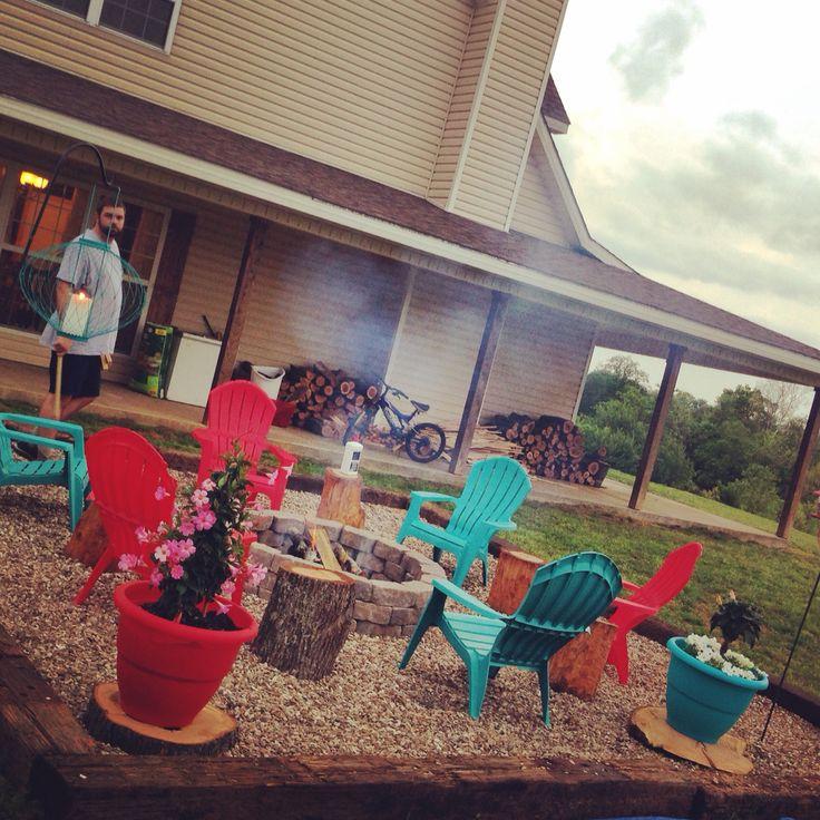 inexpensive patio designs. diy inexpensive fire pit using landscape blocks railroad ties and pea gravel backyard patiobackyard ideasoutdoor patio designs