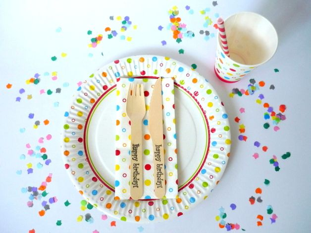Dekoration für die Party oder Kindergeburtstag: Konfetti / confetti decoration for a party, children's birthday by Malika-Shop via DaWanda.com