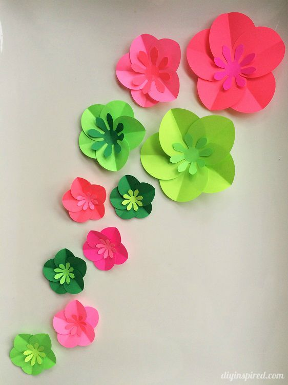 Easy Paper Flowers - Fun Paper Craft by DIY Inspired                                                                                                                                                                                 More