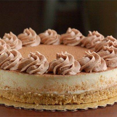 "Tiramisu Cheesecake I ""This cheesecake recipe is so good! Take your time and make sure the ladyfingers are crumbled very fine and use Kahlua Liqueur. It will turn out just like a gourmet Italian desert!"""