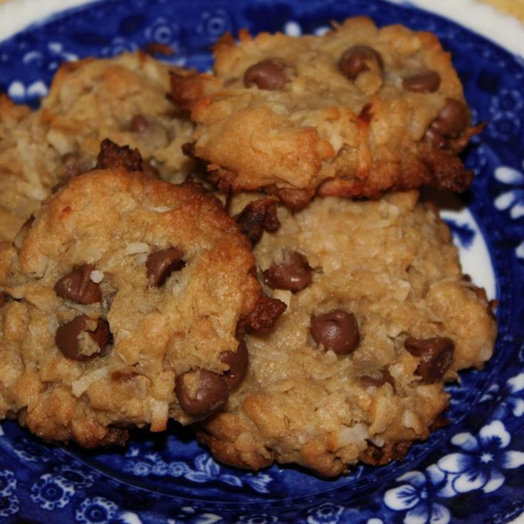"""Coconut Chocolate Chip Cookies """"The coconut bakes and gets crispy on the outside while the inside is gooey and moist."""""""