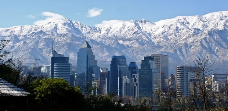 Santiago de Chile with the awesome Andes in the background.