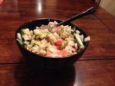 Phase 3 Fast Metabolism Diet: Sushi Bowl - Brown Rice, Imitation Crab, Cucumber, Avacado, Horseradish Sauce, Paprika, Cayenne Pepper