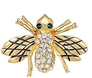 Lumanuby Brooch Bee Style Elegant Brooch Pin For Wedding Alloy Shawl Clip Lover Christmas Gift Gold Color: Amazon.co.uk: Kitchen & Home