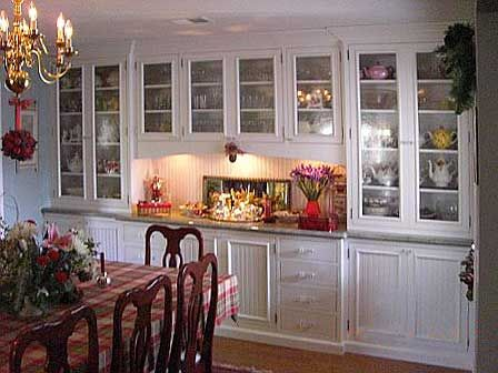 Or Something Built In Like This Along Longer Dining Wall