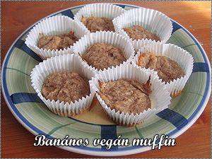 Banános vegán muffin