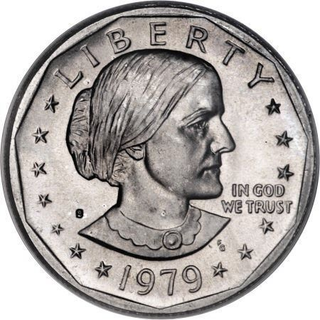 Page that has values for Susan B. Anthony dollar
