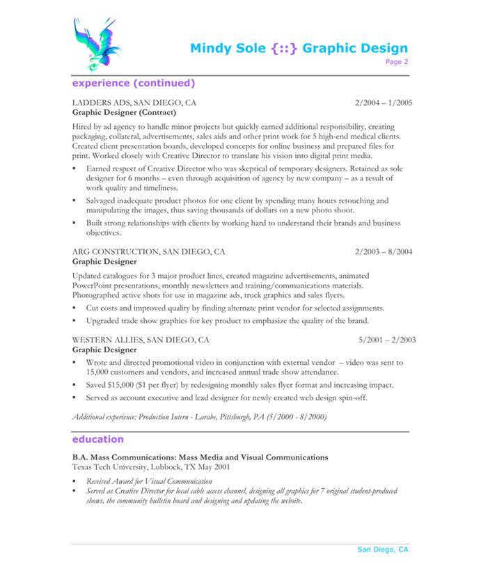15 best Designer Resume Samples images on Pinterest Free resume - impactful resume update