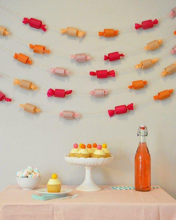 Carta Colla e Fantasia: Idee geniali dal web   Candy garland