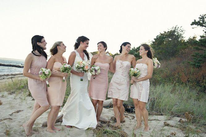 Bridesmaids dresses beach wedding