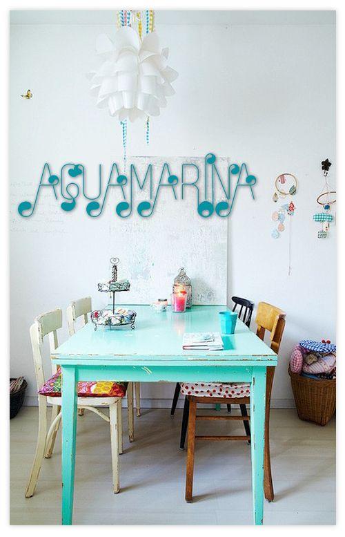 17 mejores ideas sobre cocina color aguamarina en for Color aguamarina