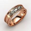 18K Rose Gold Ring - Claddaugh