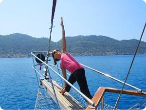 Blue cruise and activity holidays: Yoga Holidays on Luxury Gulet