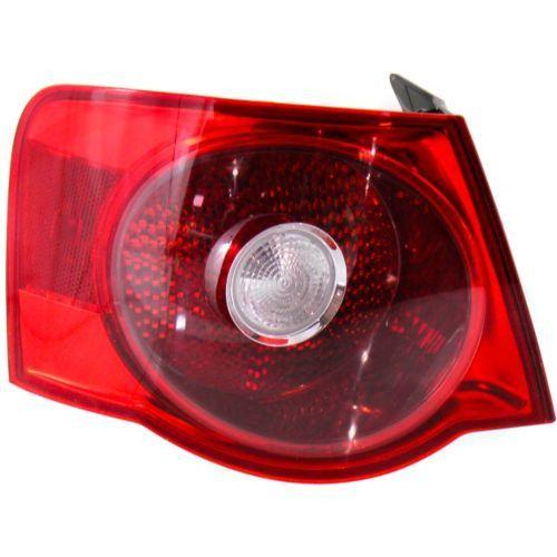 2005-2007 Volkswagen Jetta Tail Lamp LH,Outer,Lens And Housing,Red Lens,Sedan