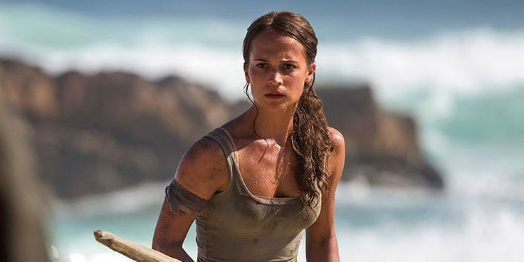 The Oscar-winning actress is archaeologist-adventurer Lara Croft in the first photos from the Warner Bros./MGM franchise reboot.