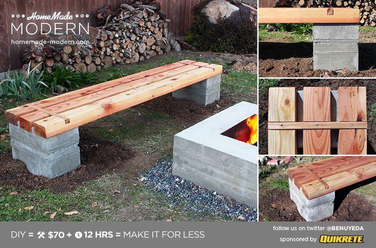Ep57 Outdoor Concrete Bench Homemade Modern Com