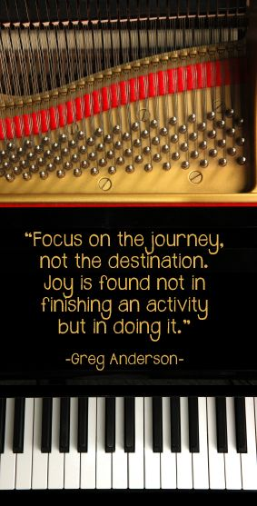 """Great post by Anne Crosby.  Let's stop saying """"I quit piano"""". Celebrate the journey!"""