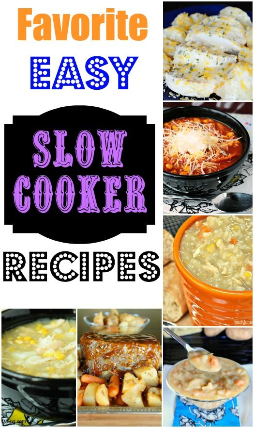 I am sharing The Best Easy Slow Cooker Recipes today! It's cold and snowing outside and that...