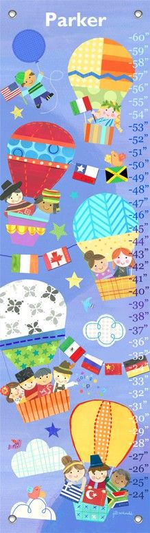 """""""Going Up!"""" Personalized Growth Chart by Jill McDonald for Oopsy Daisy $49 (LAST DAY! 15% off New Art + FREE shipping over $48)"""