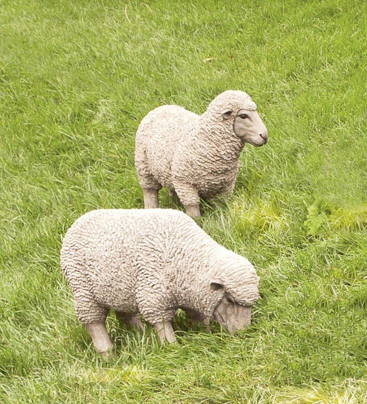 Polyresin Sheep Lawn Statues By Wind+Weather, Discovered On